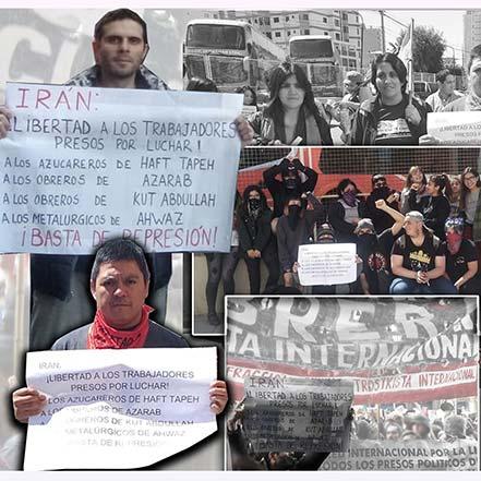همبستگی کارگران آرژانتین با آذرآب